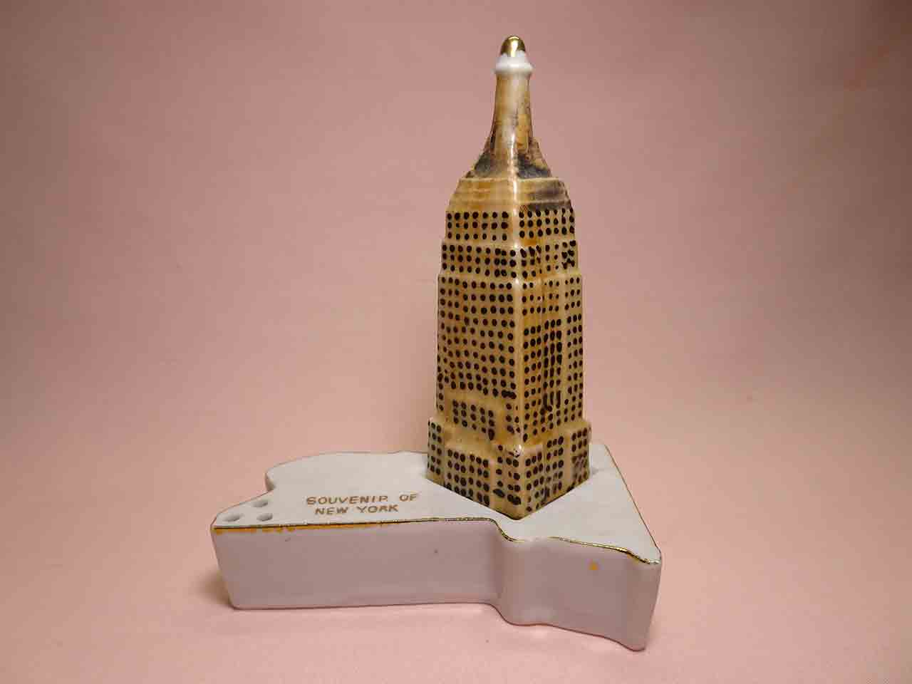 New York with Empire State Building salt and pepper shakers