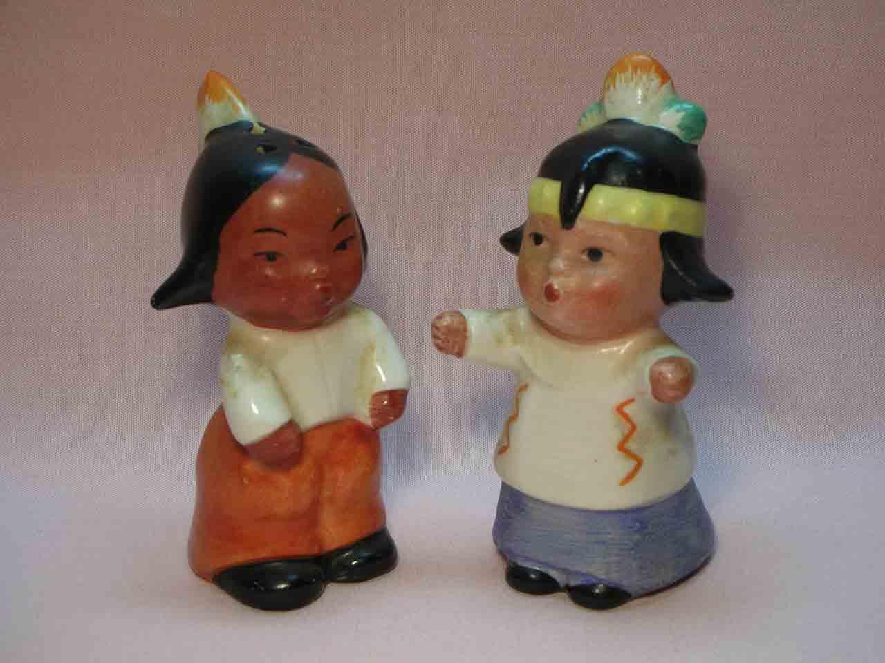 Goebel huggers salt and pepper shakers - Indians