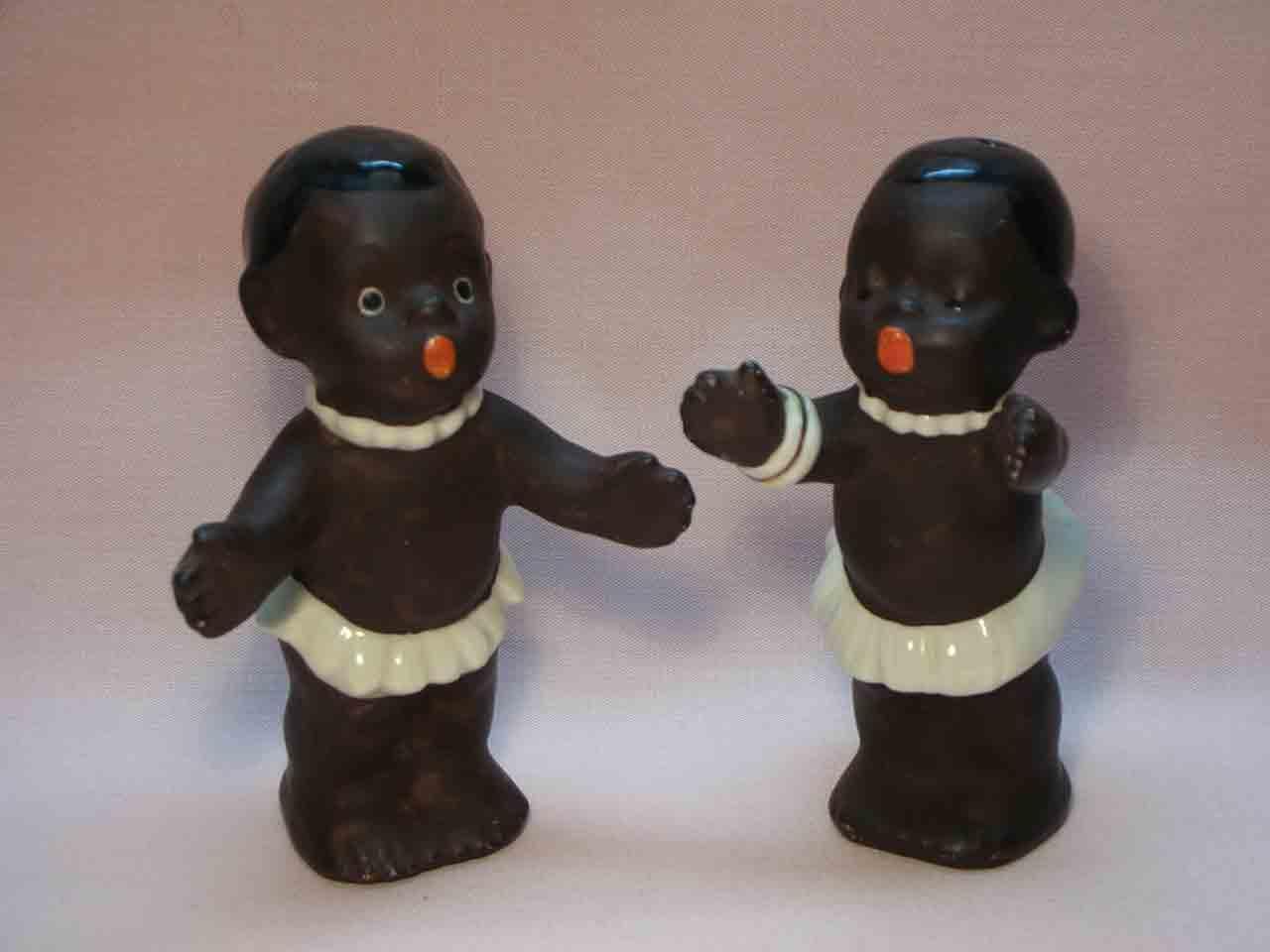 Goebel huggers salt and pepper shakers - African natives