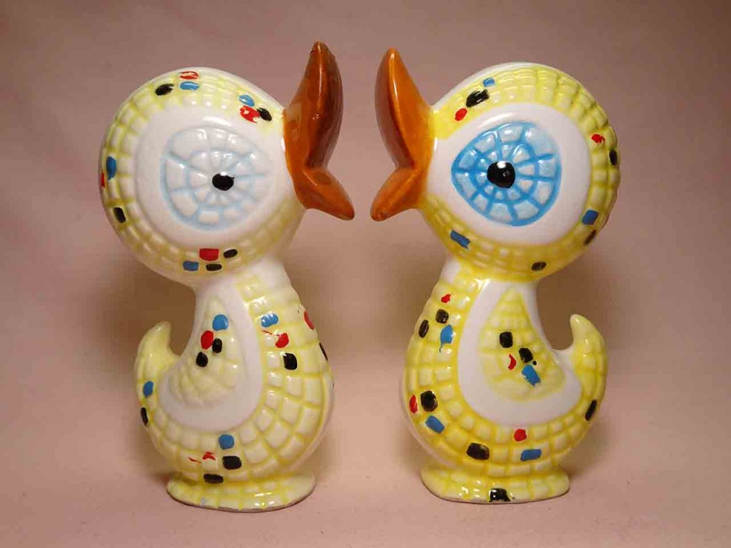Ducks from tiled animals series - salt and pepper shakers