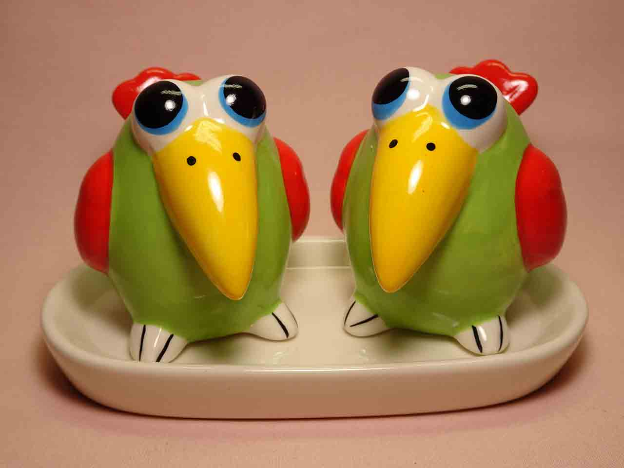 Birds salt and pepper shakers