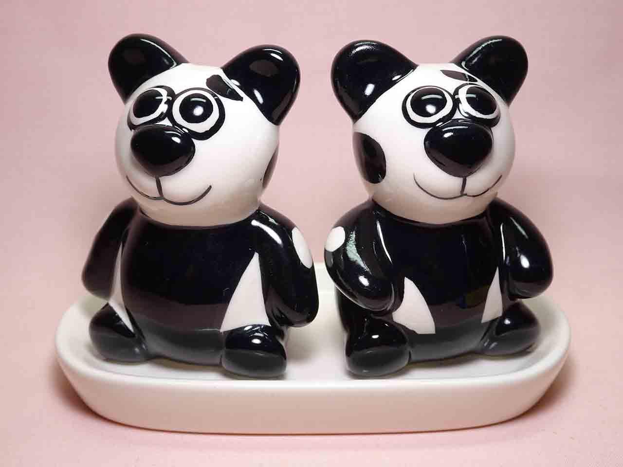Panda bear salt and pepper shakers
