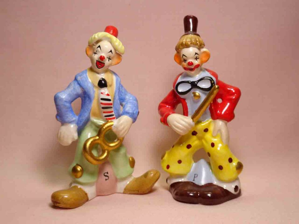 Napco clowns salt and pepper shakers