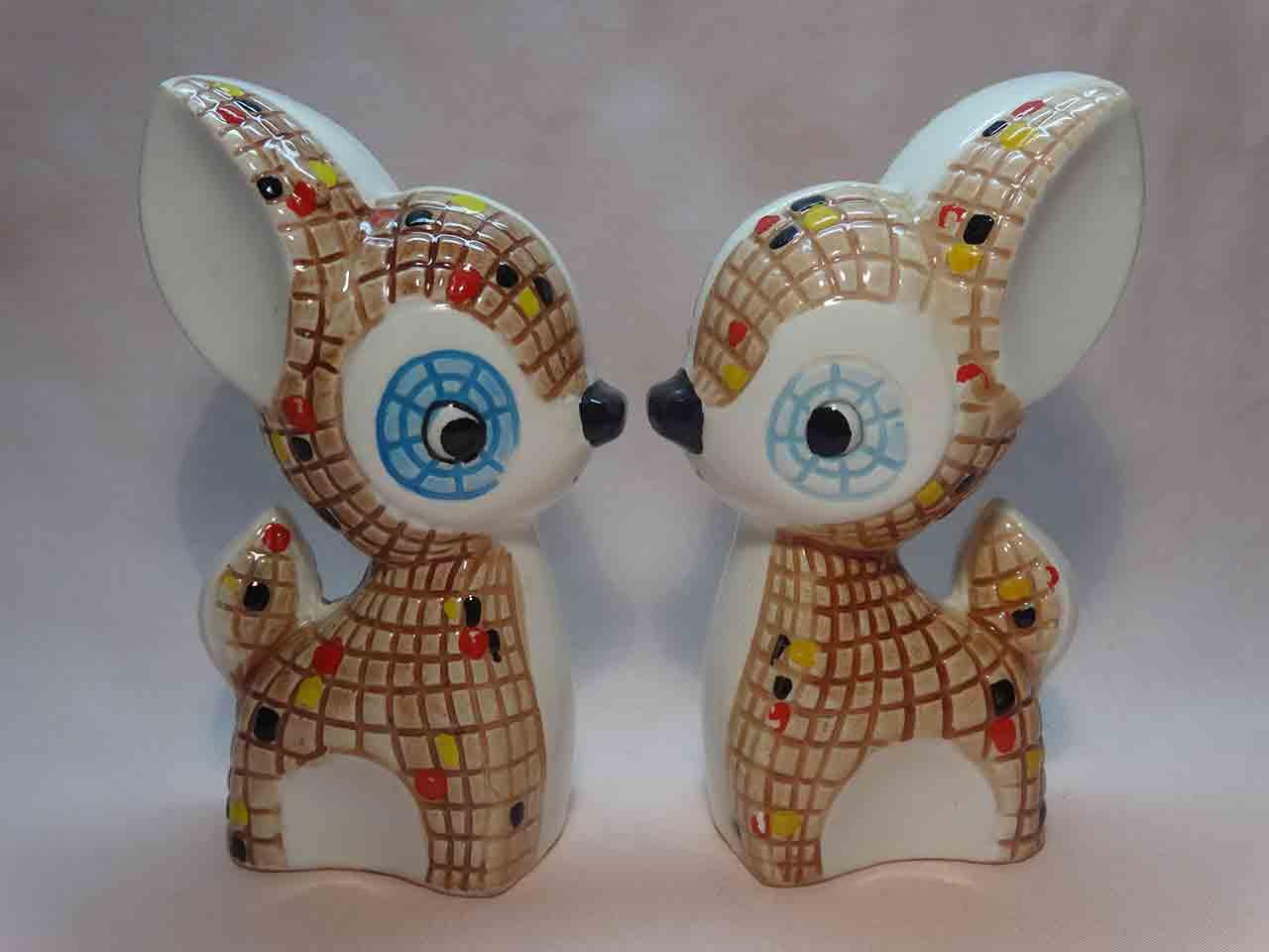 Mosaic deer salt and pepper shakers