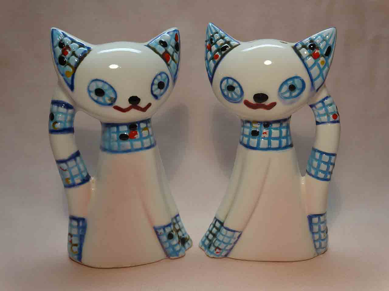 Mosaic cats salt and pepper shakers