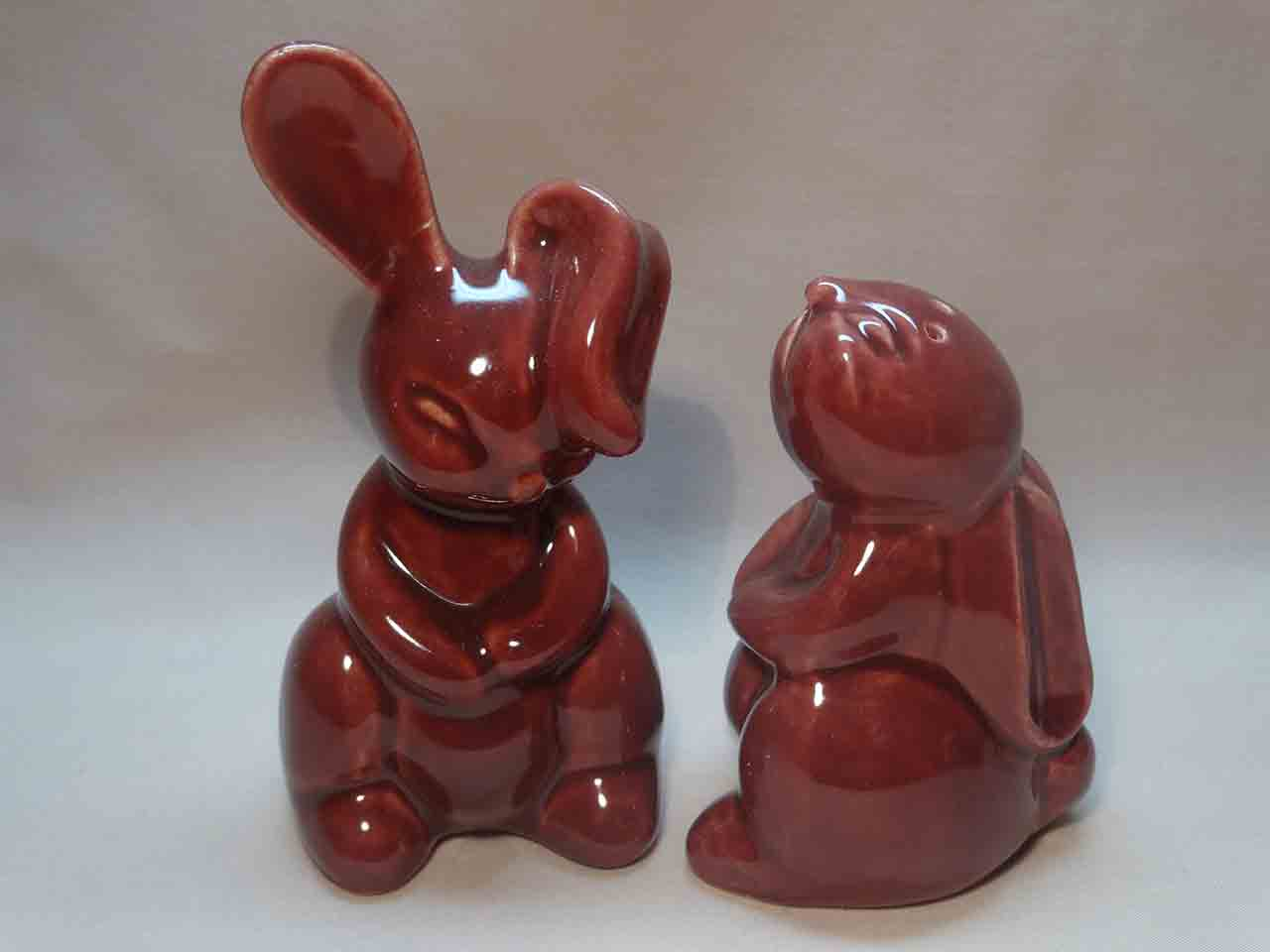 Pacific Pottery salt and pepper shakers - rabbits