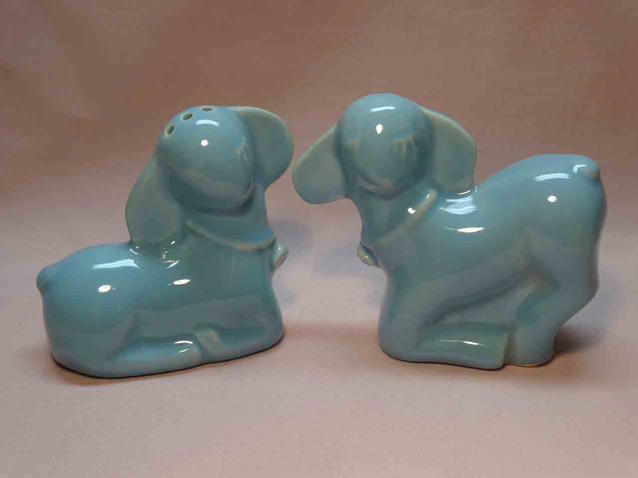 Pacific Pottery salt and pepper shakers - lambs