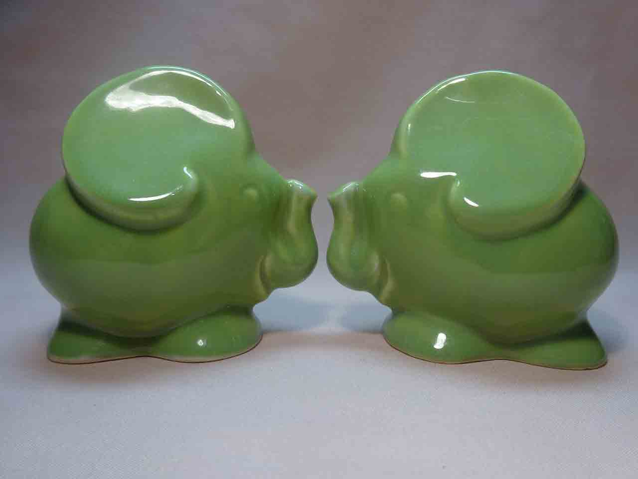 Pacific Pottery salt and pepper shakers - elephants