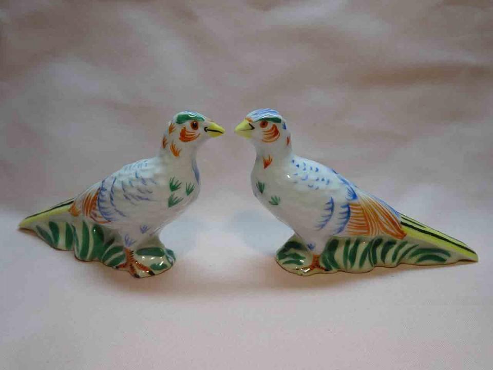 Noritake pheasant birds salt and pepper shakers
