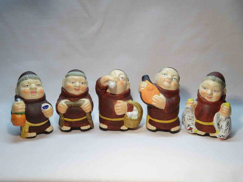 Monk series salt and pepper shakers
