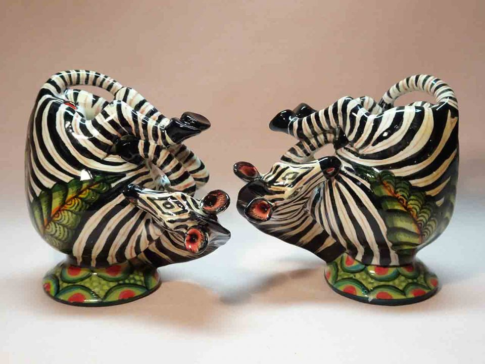 Ardmore zebras salt and pepper shakers