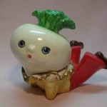 Anthropomorphic radish salt and pepper shakers