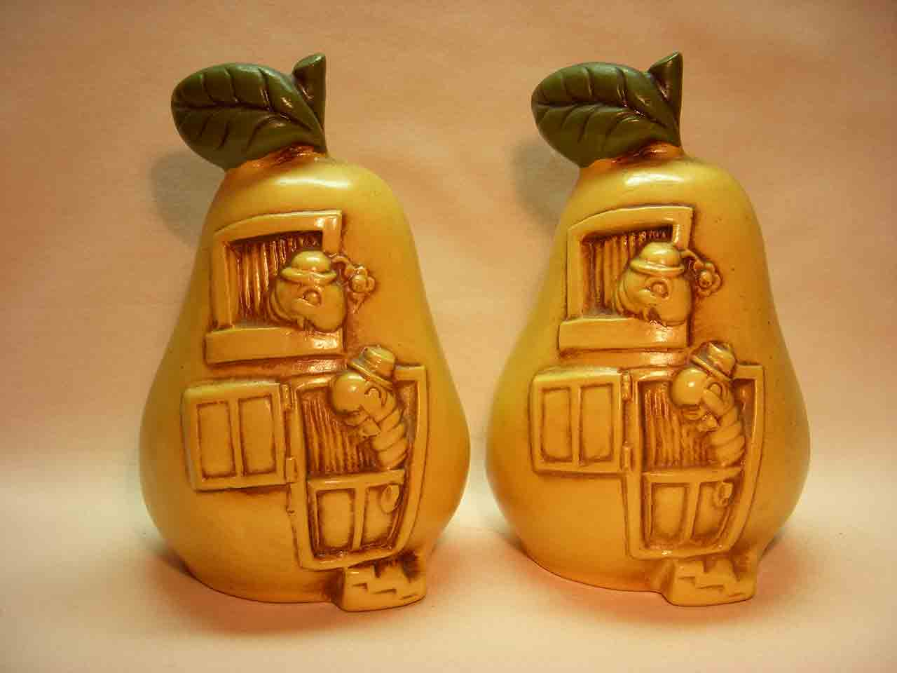 Twin Winton pear salt and pepper shakers