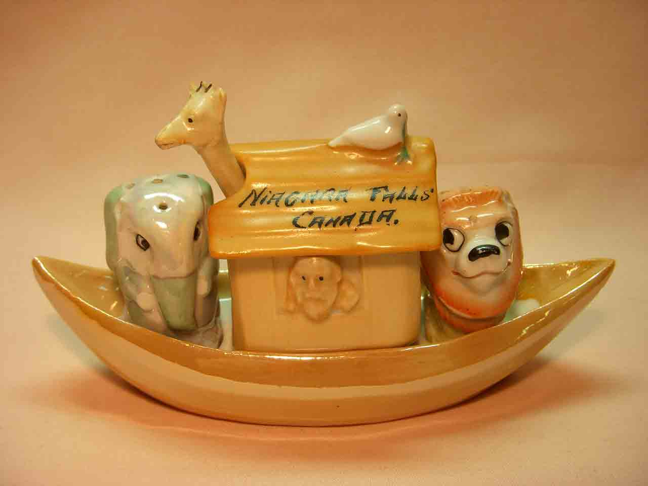 Germany Noah's Ark condiment salt and pepper shakers