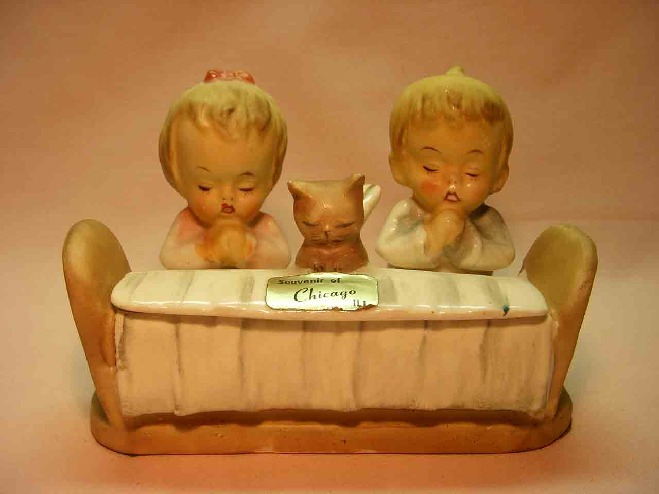Bedtime prayer salt and pepper shakers and condiment set