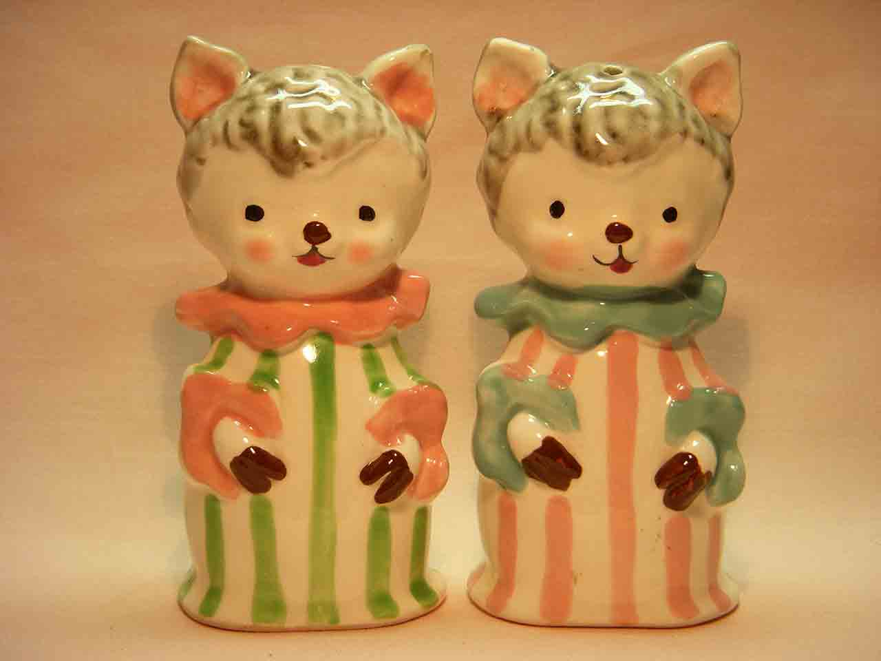 Animals in pajamas series salt and pepper shakers