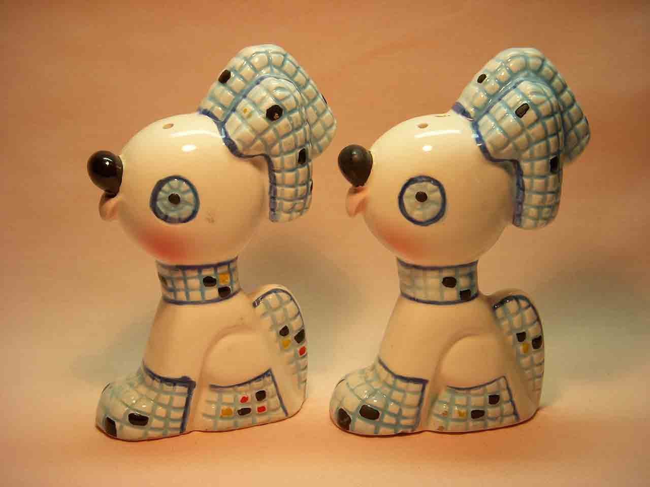 Mosaic dogs salt and pepper shakers