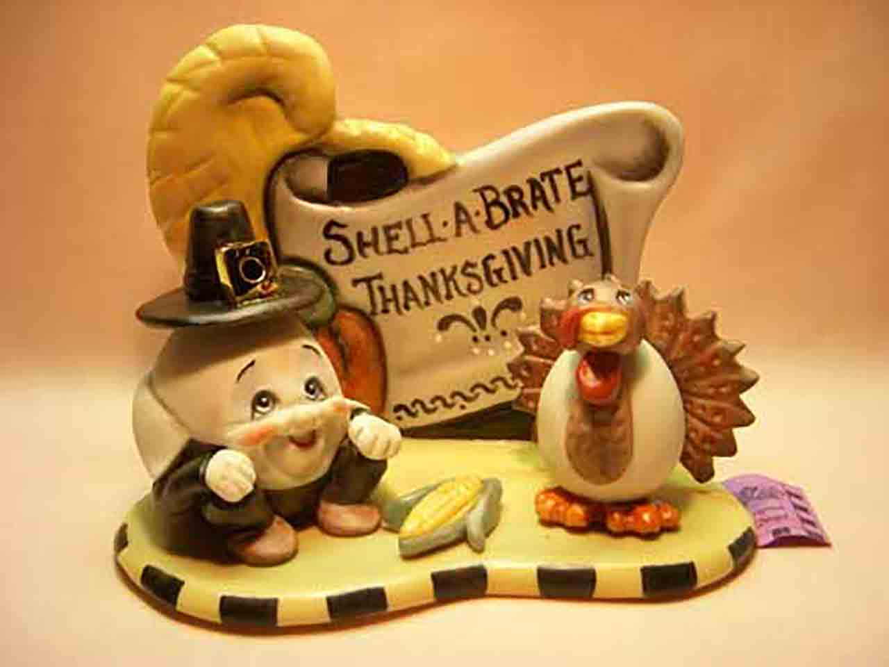 Shell-A-Brate Thanksgiving by Allyson Nagel salt and pepper shakers