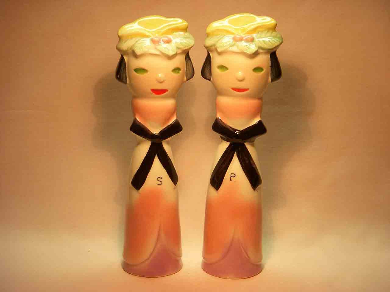 Tallboy ladies salt and pepper shaker
