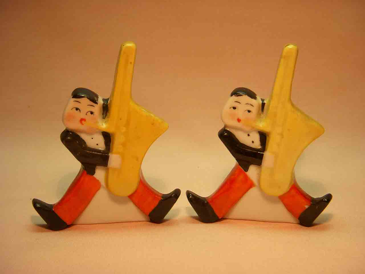Goebel musicians salt and pepper shakers - base saxophones