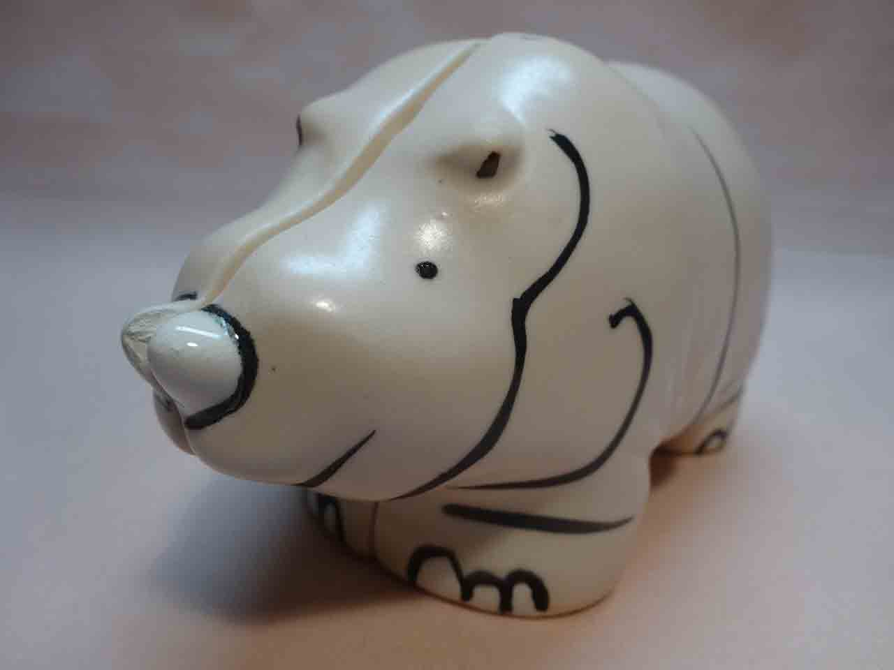 Two piece rhino salt and pepper shaker