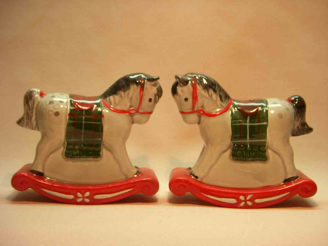 Josef Originals rocking horses salt and pepper shaker