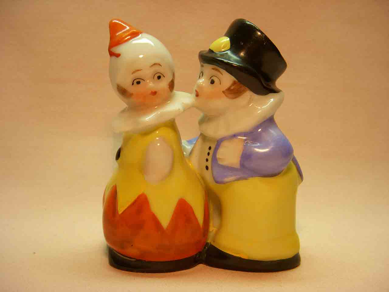 Germany one piece clowns salt and pepper shaker