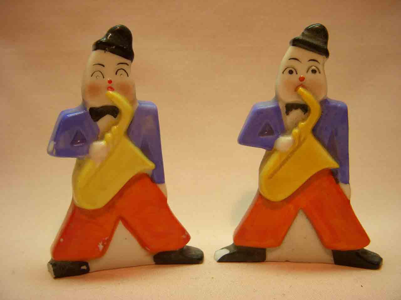 Goebel musicians salt and pepper shakers - alto saxophones