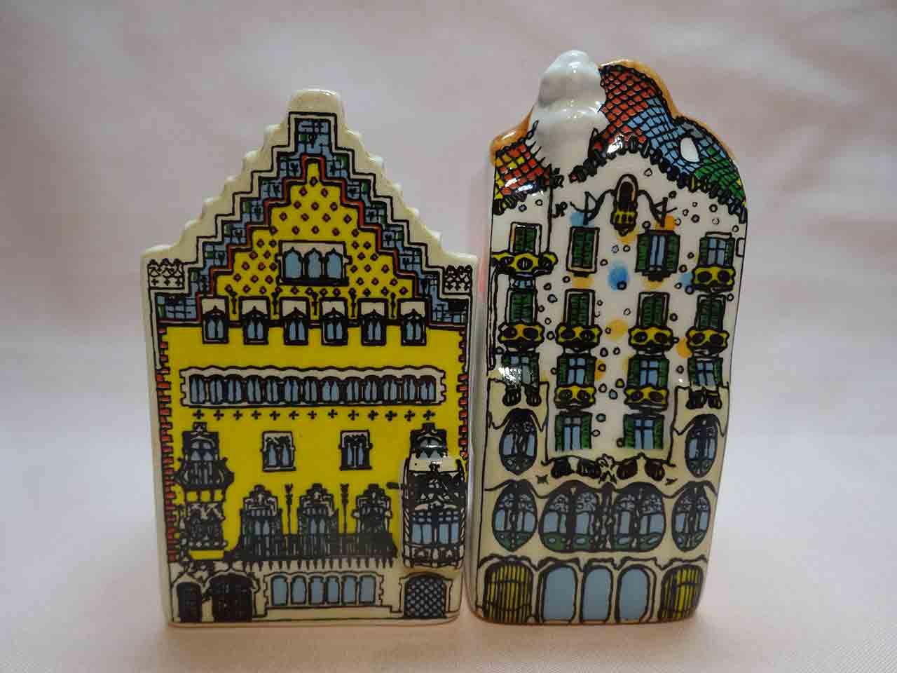 Casa Batlló by Gaudi salt and pepper shakers