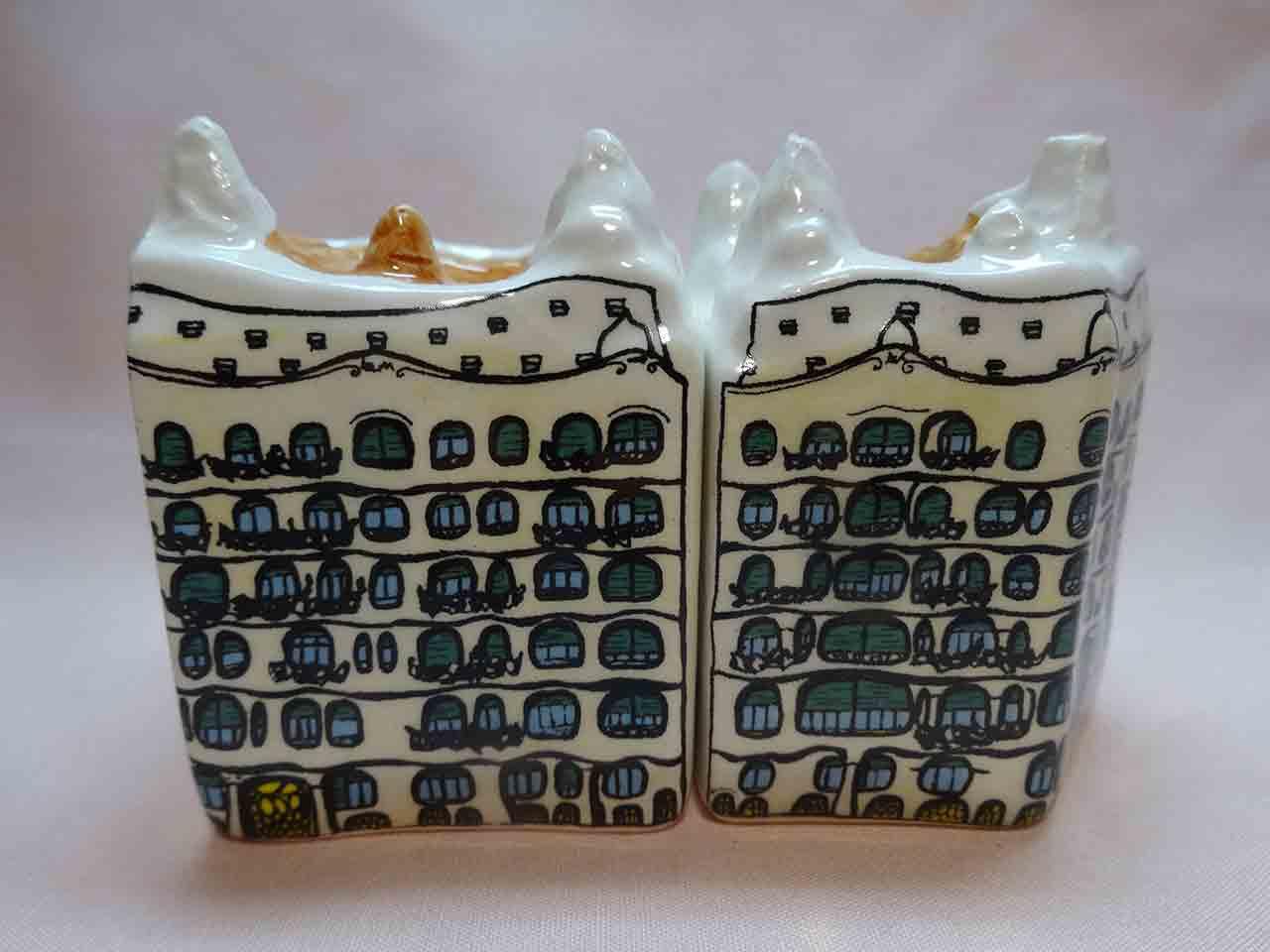 Casa Milà by Gaudi salt and pepper shakers